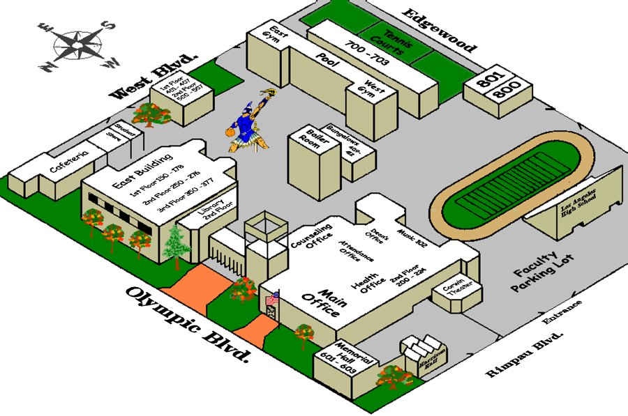 the los angeles high school map wooopeeee