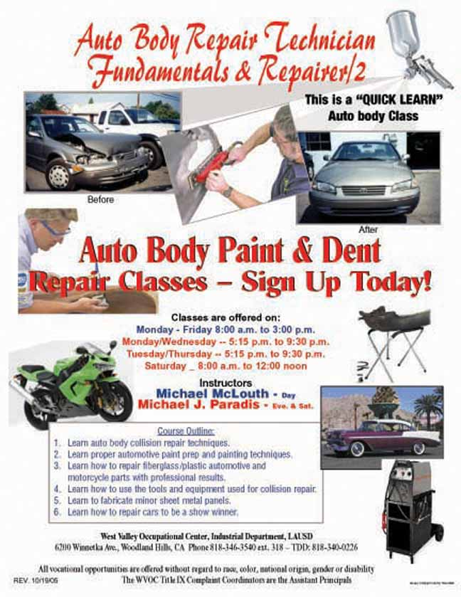 Auto Body accounting foundation courses